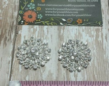 Rhinestone Embellishment for Headbands. Rhinestone Center.