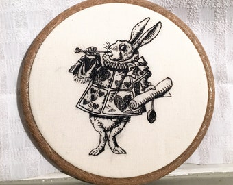 The White Rabbit - Alice in Wonderland Embroidery