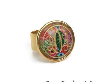 Gold Monogram Ring | Custom Acrylic | Monogram Ring | Gift For Her