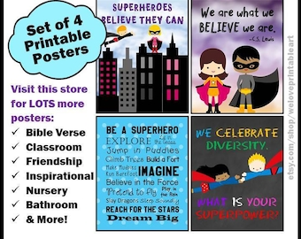 Superhero Theme, Teacher Posters, Classroom Decor, Superheroes, Classroom Sign, Decorations, Motivational Quotes, Classroom Prints