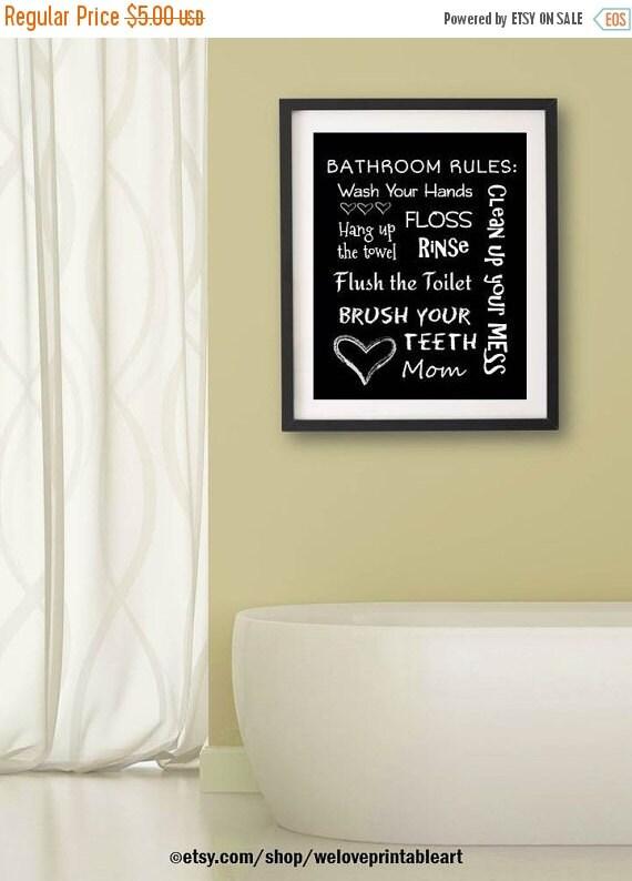 60 off sale kids bathroom art decor by weloveprintableart for Bathroom decor on sale