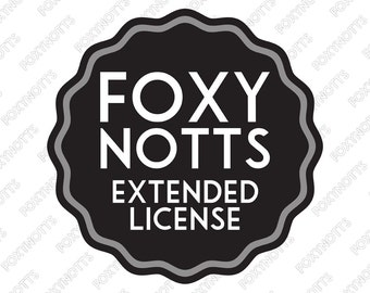 Extended License for Commercial Use: Digital Clipart and Illustration Listings from Foxy Notts