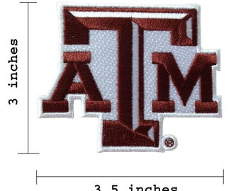Texas A&M Aggies Logo Embroidered Iron On Patch.