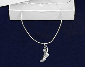 Wholesale Winged Foot Necklaces (18 Necklaces) (N-02-RUN)