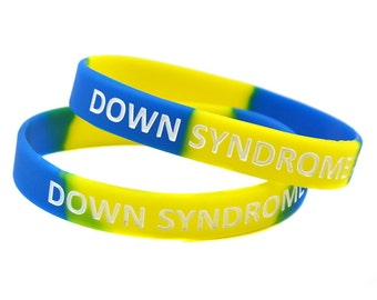 Down Syndrome Support Awareness Silicone Bracelet Wristband Band