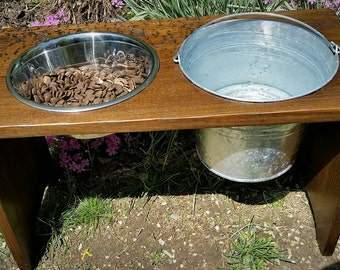 Elevated Dog Bowls, Raised Dog Bowl, Dog Bowl Station, Custom Dog