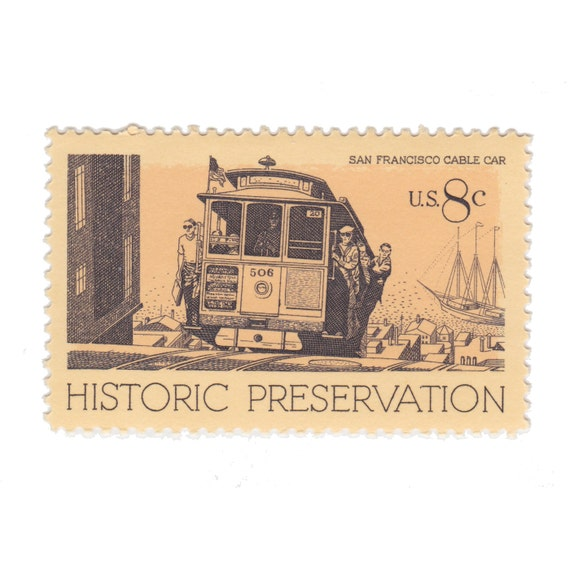 1971 8c Historic Preservation Series San on Historic Preservation Stamp 1971