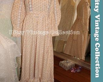 LAURA ASHLEY prairie dress - 1970S Victoriana VHTF