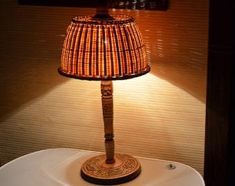 Wicker Lamp Shade Etsy