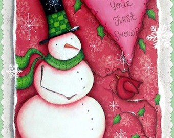 First Snow - Painted by Sharon Bond, Painting With Friends E Pattern