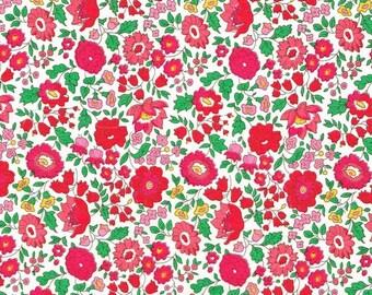 Liberty of London Tana Lawn Danjo in Red -- 1/4 Yard