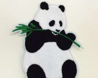 Panda embroidered patch applique vintage clothing decoration patch