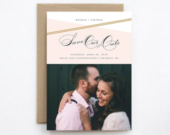 Wedding Save the Date - Intersect - Card & Envelope