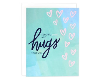 Sympathy Card, Sending Love & Hugs Card, Thinking Of You Card, Get Well Card, Here For You Card, Sorry For You Loss, Sympathy - (#SYM01)