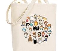 Studio Chibi ~ Studio Ghibli ~ Canvas Tote Bag
