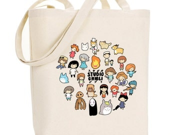 Studio Chibi ~ Studio Ghibli ~ Canvas Tote Bag