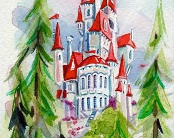 "Beasts Castle 4x6"" Fine Art Quality Print."