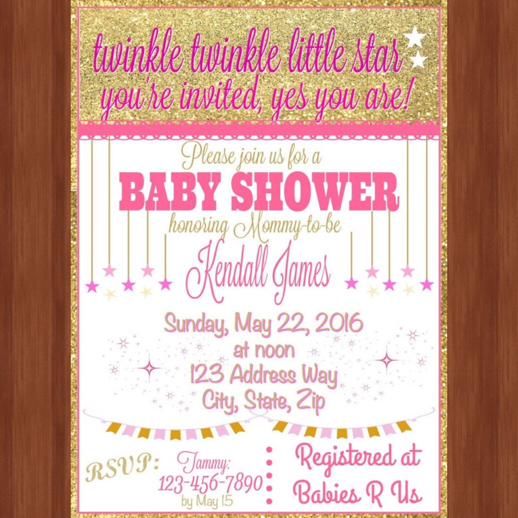 It is an image of Peaceful Free Printable Twinkle Twinkle Little Star Baby Shower Invitations