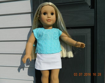 18 Inch Doll Shirt and Skirt