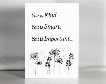 You is old Greeting Card Birthday You is Kind Funny Senior