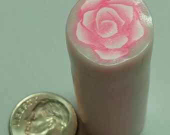 Pink Rose Polymer Clay Cane