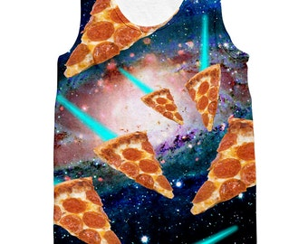 Flying Galaxy Pizzas Tank Top