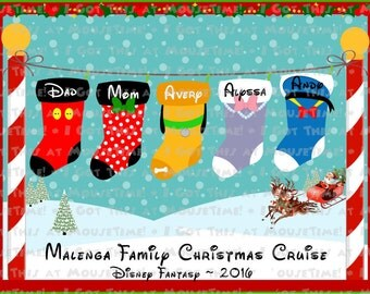 MAGNET Christmas North Pole Stockings! - Stateroom Door Magnet