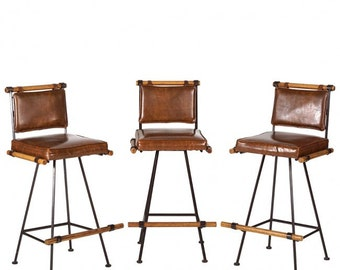Mid Century - Cleo Baldon - set of 3 Barstools - All 3 one price - Hold for Alexandria until Wednesday 7/5/2017  10 am