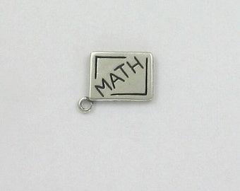 Sterling Silver Math Book Charm
