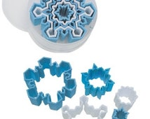 Set of 5 Snowflake Cookie Cutter Christmas party treats supplies clay fondant decorating tools festivals bake sales 1766