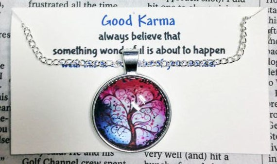 Good Karma Necklace Quote Gift Always By SheCollectsICreate