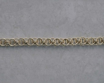Sterling Silver Helm Weave Chain Maille Bracelet