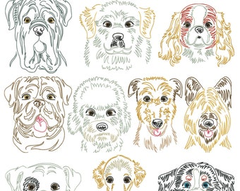 Dog breeds section 7 for the border 10x10cm