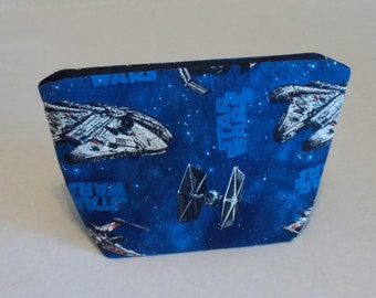 Star Wars inspired zippered pouch.