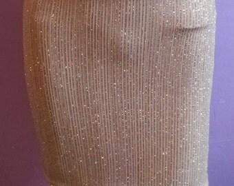 Short glitter skirt set