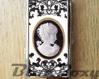 Cameo Cigarette Case, Cigarette Holder, Cigarette Box, Card Holder