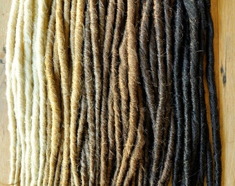 Dreadlock Extensions x 50 dreads, Single Ended 20inch/50 long, 1cm thick