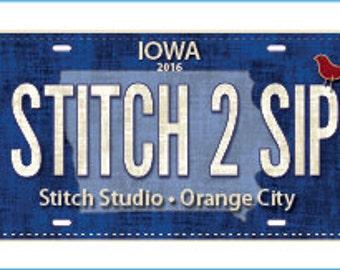 2016 Row by Row License Plates- Stitch Studio Orange City Iowa