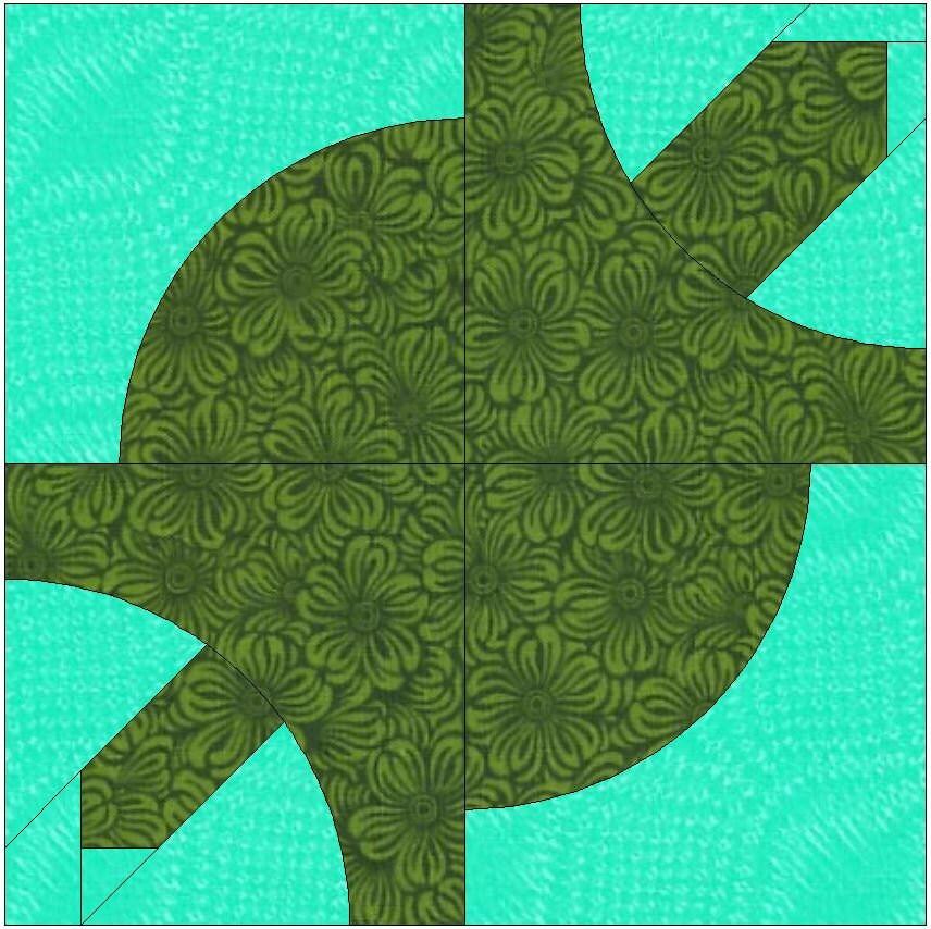 Turtle Drunkard S Path Block Paper Templates Quilting