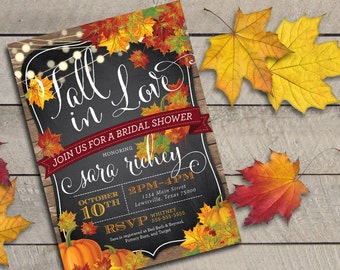 Printable Fall in Love Bridal Shower Invitation