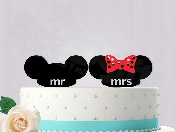 mickey ears wedding cake topper mickey and minnie mouse ears wedding cake topper by bee3dgifts 17351