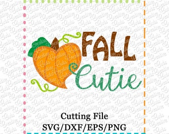 EXCLUSIVE SVG eps DXF Fall Cutie svg, pumpkin svg, thanksgiving svg, autumn svg, fall svg, pumpkin patch cutie svg, cutest pumpkin patch svg