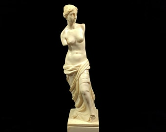 "Vintage Venus De Milo Statue by A. Santini done in Marble Composite, 11"" Tall"