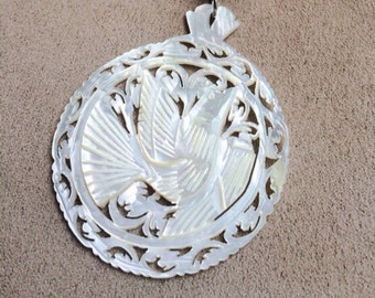 Mother of Pearl Dove Pendant