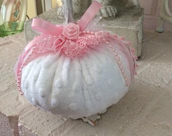 Chenille Fabric Pumpkin