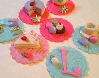 Edible  Tea Party/ Alice in Wonderland   Cupcake Toppers