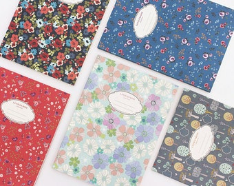 Floral lined notebook / 101433798
