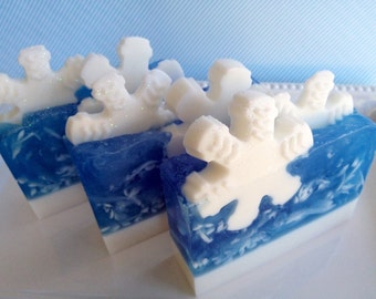 Jack Frost Soap - snowflake soap, christmas soap, winter soap