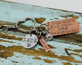 Water Polo Keychain/ Copper Water polo Jewelry, If you can't play nice, play waterpolo GIFT Team gift keychain
