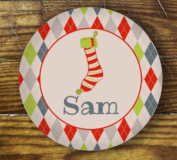 Personalized Dinner Plate or Bowl - Stocking